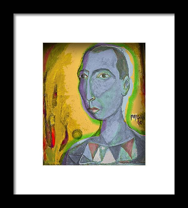 Portrait Framed Print featuring the painting Prince Of The Nile by Noredin Morgan