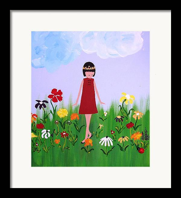 Princess Framed Print featuring the painting Princess Lee by Sandi Stonebraker