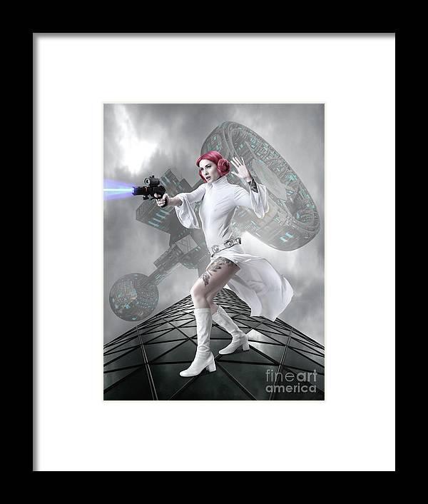 Starwars Framed Print featuring the digital art Princess Leia by Babette Van den Berg