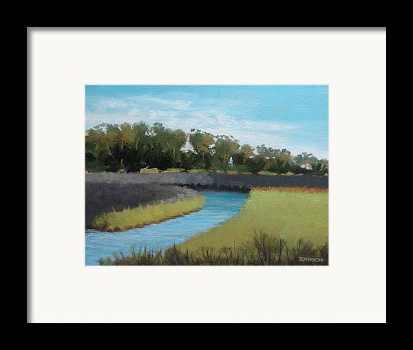 Landscape. Waterway Framed Print featuring the painting Princess Place Preserve by Robert Rohrich