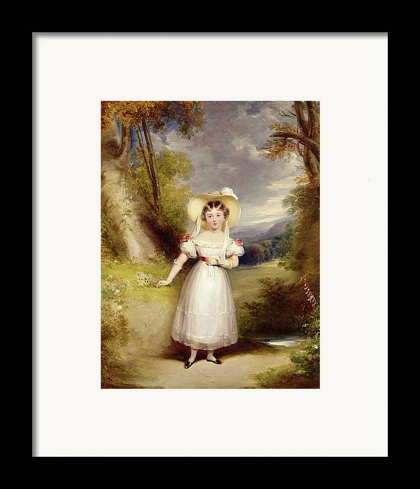 Princess Framed Print featuring the painting Princess Victoria Aged Nine by Stephen Catterson the Elder Smith