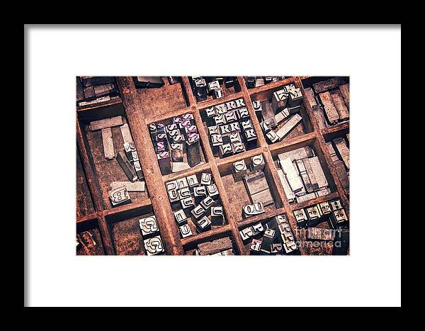 Printers Framed Print featuring the photograph Printing Blocks by Delphimages Photo Creations