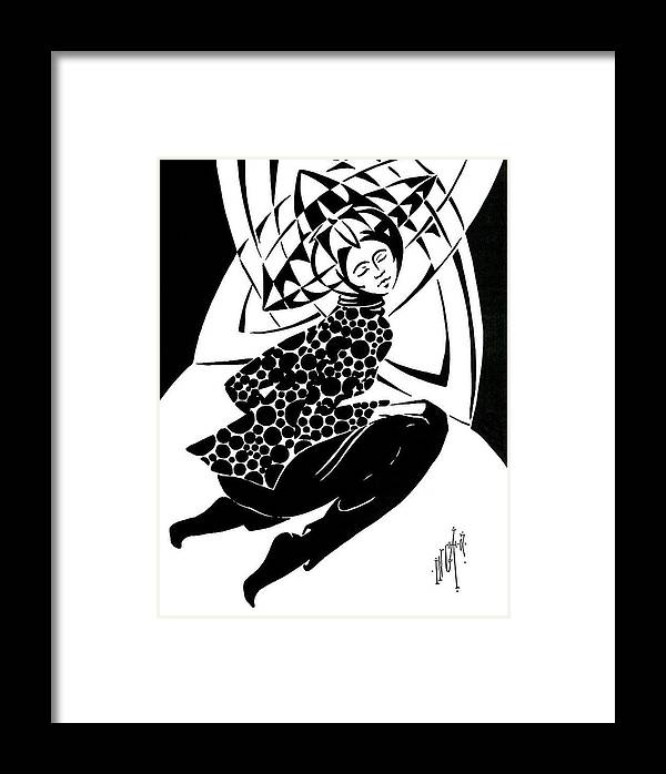 Expressionism Framed Print featuring the drawing Prism by Inga Vereshchagina