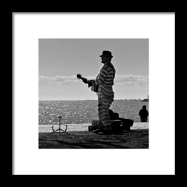Toronto Framed Print featuring the photograph Prison Break Blues.  busking On The by Brian Carson