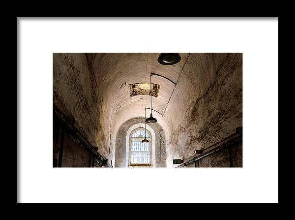 Eastern Framed Print featuring the photograph Prison Passageway by JAMART Photography