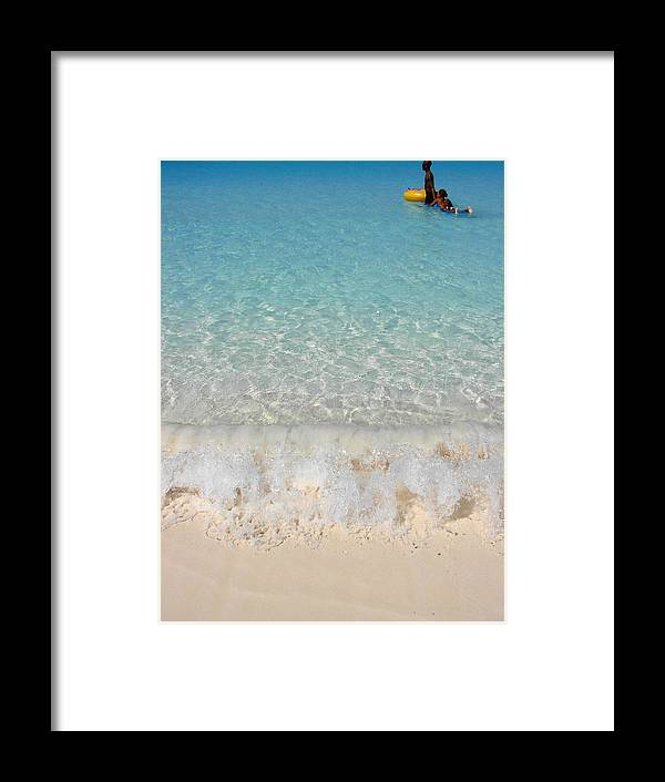 Caribbean Framed Print featuring the photograph Pristine Beach At Half Moon Cay by Margaret Bobb