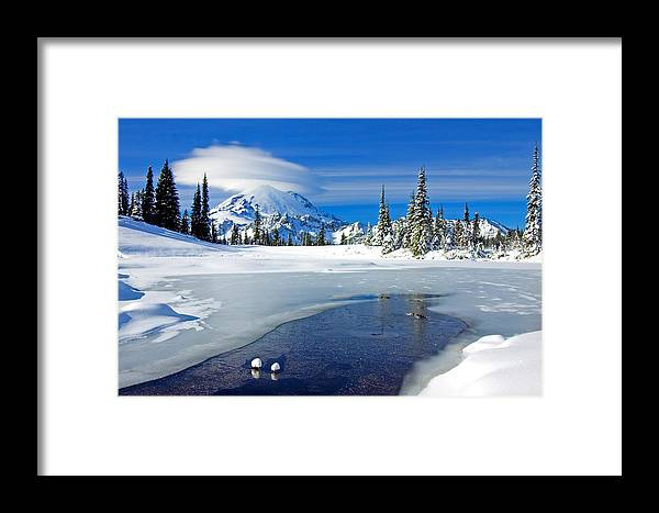 Rainier Framed Print featuring the photograph Pristine by Mike Dawson
