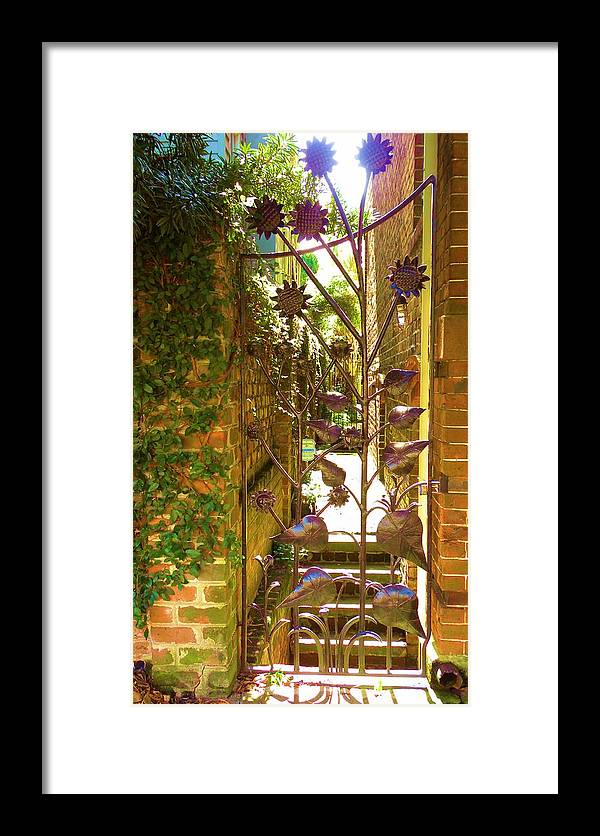 Savannah Gate Framed Print featuring the photograph Privacy by Kim Zwick