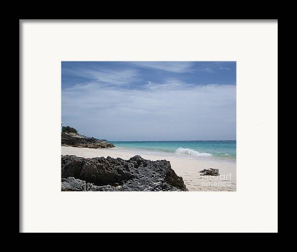 Bermuda Framed Print featuring the photograph Private Bermuda Beach by PJ Cloud