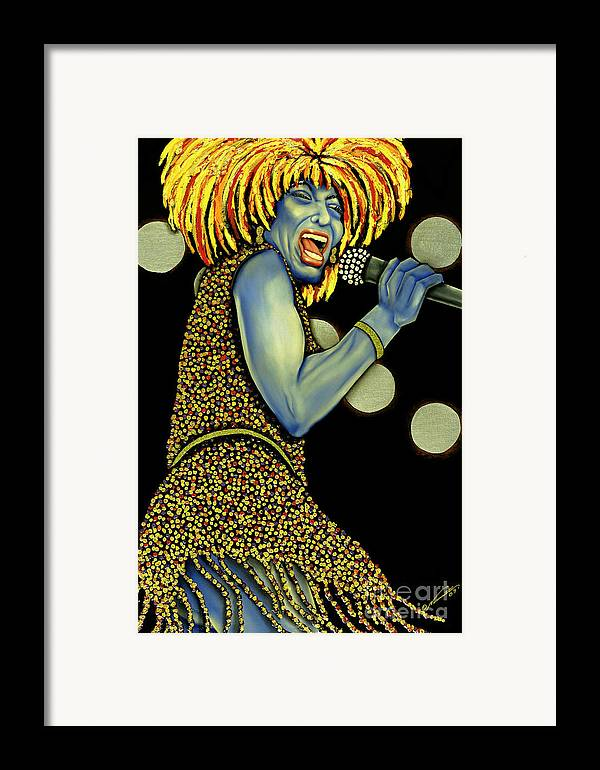 Portrait Framed Print featuring the painting private Dancer by Nannette Harris