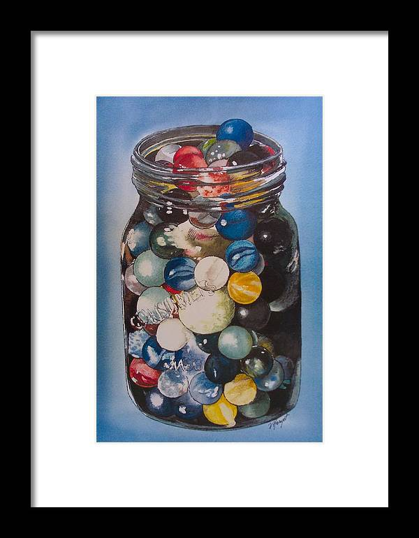 Marbles Framed Print featuring the painting Prized Collection by Victoria Heryet