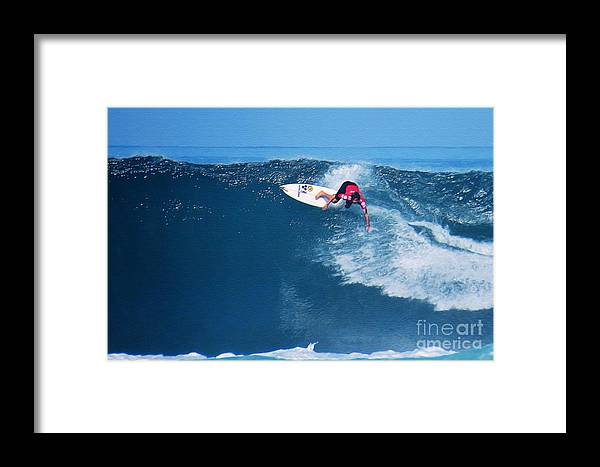 Professional-surfer-surfers Framed Print featuring the photograph Pro Surfer Alex Ribeiro-6 by Scott Cameron