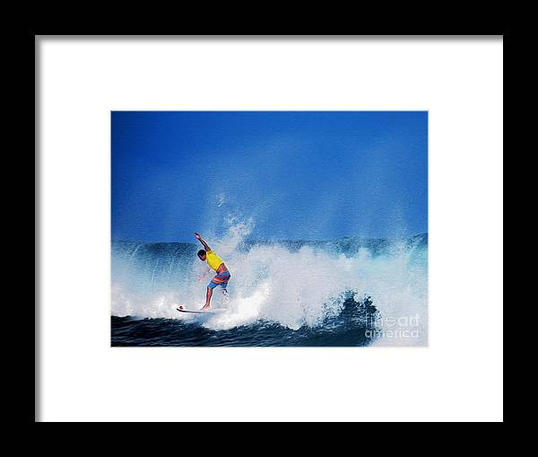 Professional-surfer-surfers Framed Print featuring the photograph Pro Surfer Chris Ward by Scott Cameron