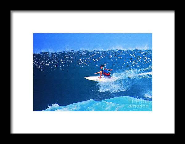 Professional-surfer-surfers Framed Print featuring the photograph Pro Surfer Ezekiel Lau-3 by Scott Cameron