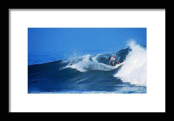 Professional-surfer-surfers Framed Print featuring the photograph Pro Surfer Gabe King - 2 by Scott Cameron