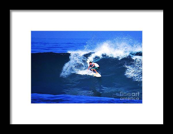 Professional-surfer-surfers Framed Print featuring the photograph Pro Surfer Gabe King - 3 by Scott Cameron
