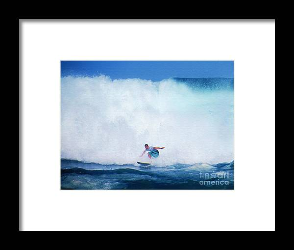 Professional-surfer-surfers Framed Print featuring the photograph Pro Surfer Gabe King -6 by Scott Cameron