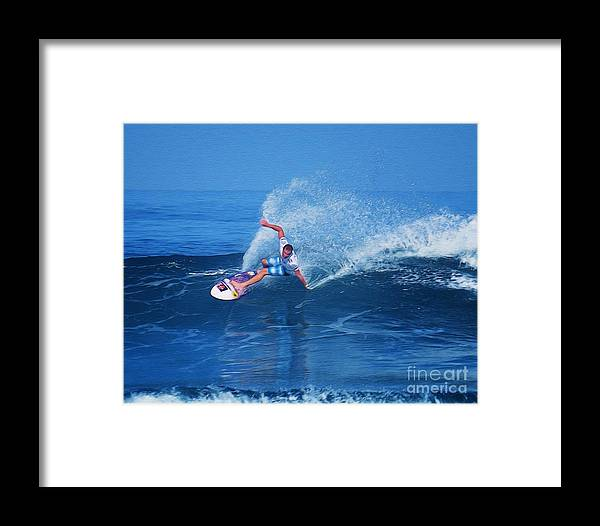 Professional-surfer-surfers Framed Print featuring the photograph Pro Surfer Jamie O Brien #1 by Scott Cameron