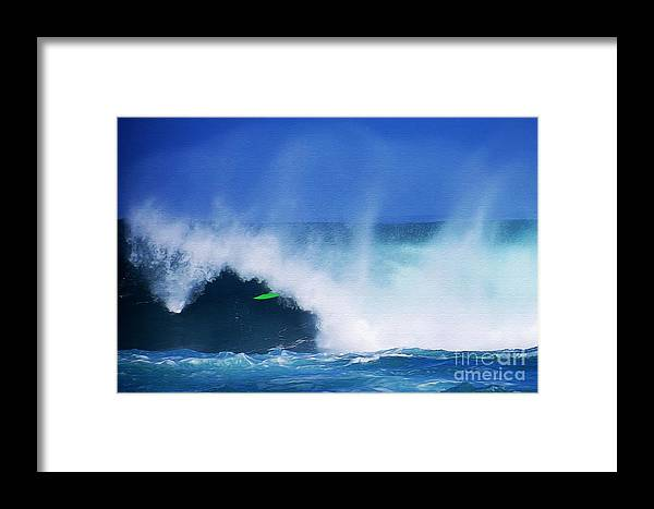 Professional-surfer-surfers Framed Print featuring the photograph Pro Surfer Keanu Asing-1 by Scott Cameron