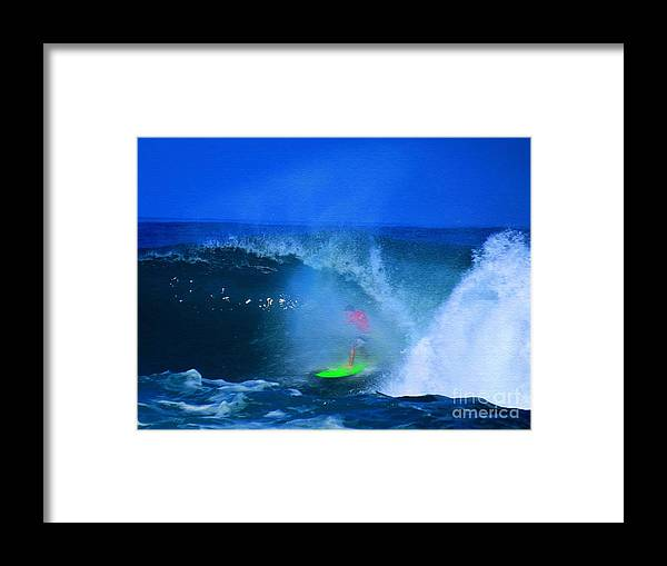 Professional-surfer-surfers Framed Print featuring the photograph Pro Surfer Keanu Asing-3 by Scott Cameron