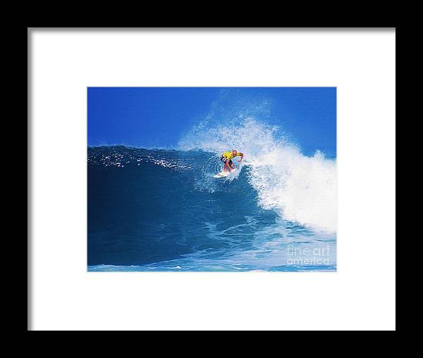 Professional-surfer-surfers Framed Print featuring the photograph Pro Surfer Nathan Hedge-1 by Scott Cameron