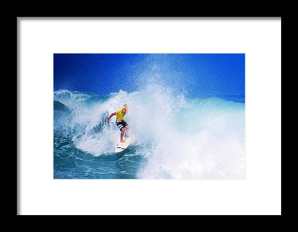 Professional-surfer-surfers Framed Print featuring the photograph Pro Surfer-nathan Hedge-5 by Scott Cameron