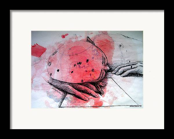 Process Framed Print featuring the digital art Process Of Inspiration by Paulo Zerbato