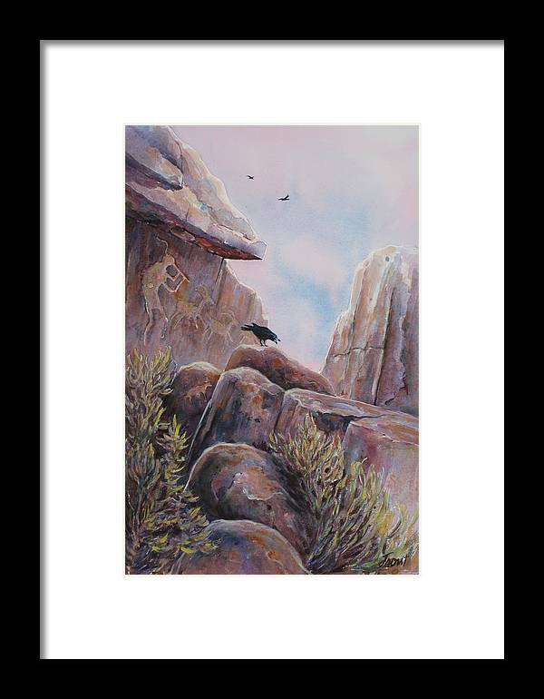 Ravens Framed Print featuring the painting Processional by Don Trout