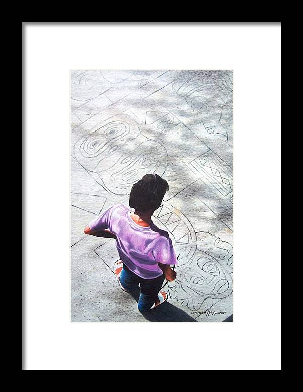 Figurative Framed Print featuring the drawing Prodigy by Sylvester Hickmon