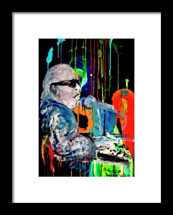 Blues Framed Print featuring the painting Professor Longhair And Color Blues by Richard Hubal