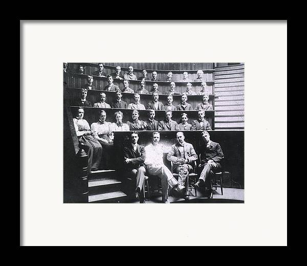 History Framed Print featuring the photograph Professors Harvey Cushing, Howard by Everett