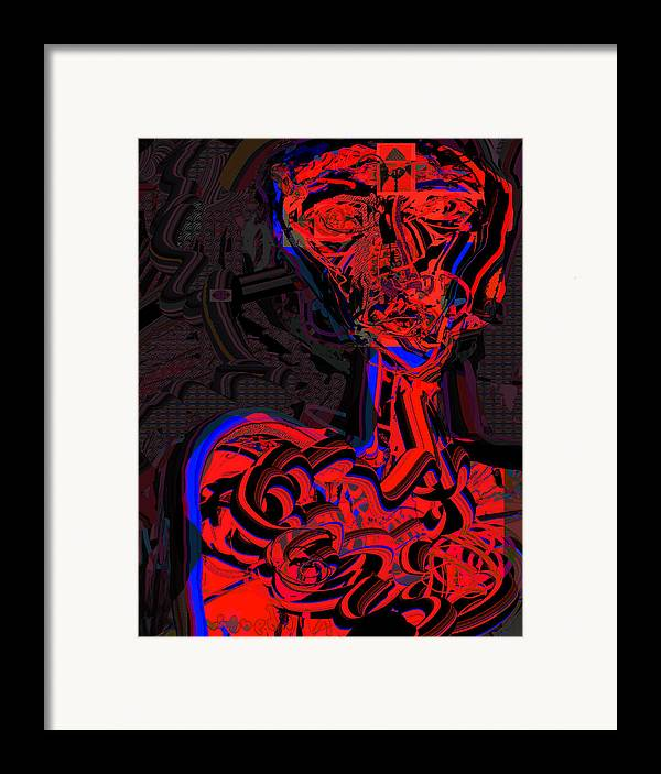 Drawing Framed Print featuring the digital art Profiling by Noredin Morgan