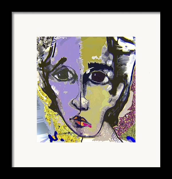 Portrait Framed Print featuring the mixed media Projection by Noredin Morgan