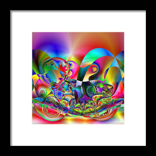 Hybrid Framed Print featuring the digital art Prological by Andrew Kotlinski