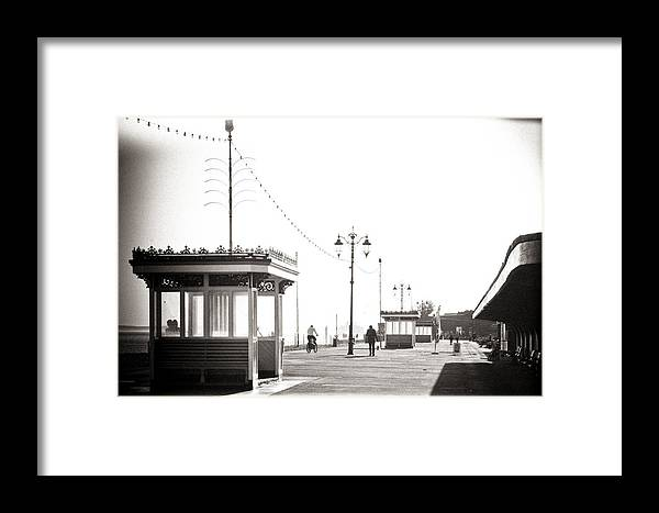 Promenade Framed Print featuring the photograph Prom Walk by Angela Aird