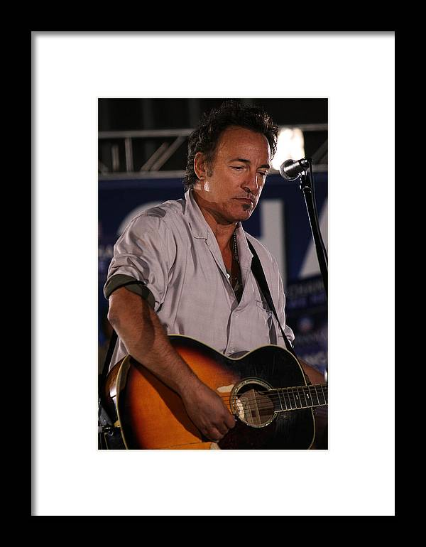 Bruce Springsteen Framed Print featuring the photograph Promised Land by Brian M Lumley