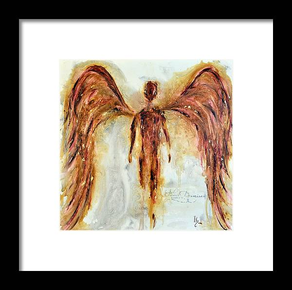 Angel Framed Print featuring the mixed media Promises by Ivan Guaderrama