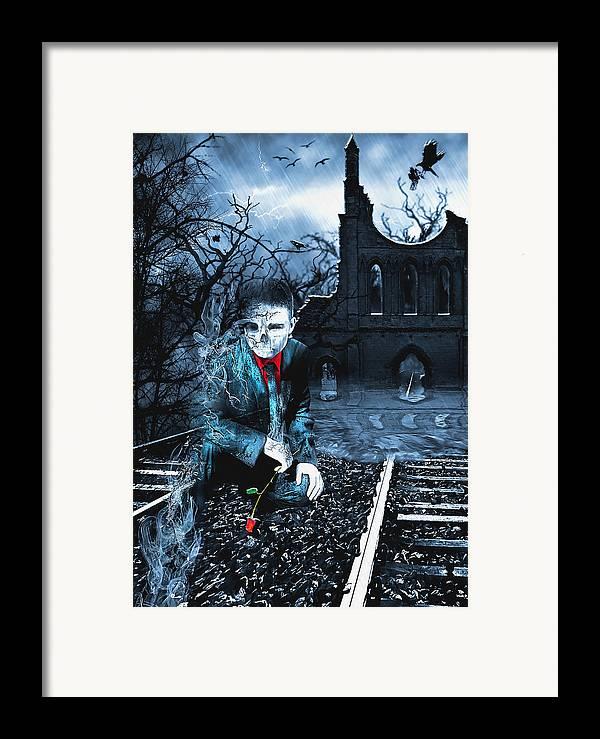 Rail Framed Print featuring the digital art Promises by Svetlana Sewell
