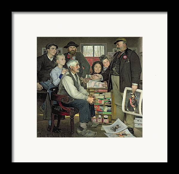 Propaganda Framed Print featuring the painting Propaganda by Jean Eugene Buland