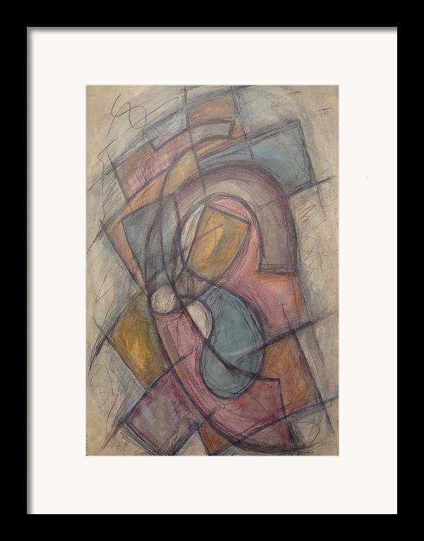 Pure Abstract Framed Print featuring the painting Propeller by W Todd Durrance