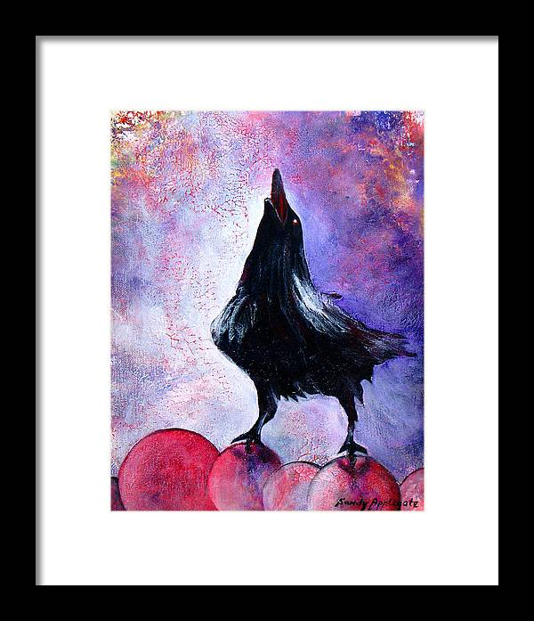 Raven Framed Print featuring the painting Prophet by Sandy Applegate