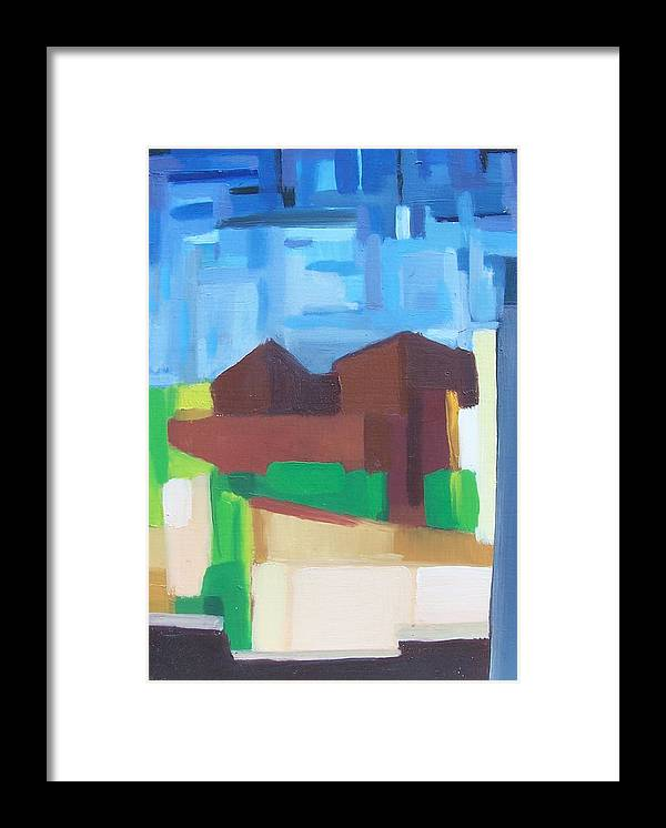 Painting Framed Print featuring the painting Prospect Ave View by Ron Erickson