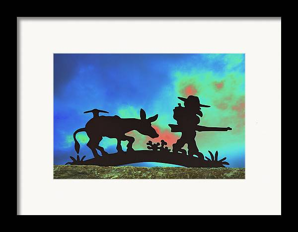 Silhouette Framed Print featuring the photograph Prospector's Silhouette by Richard Henne