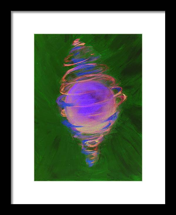 Abstract Framed Print featuring the painting Prosperity by Cecilia August Sand