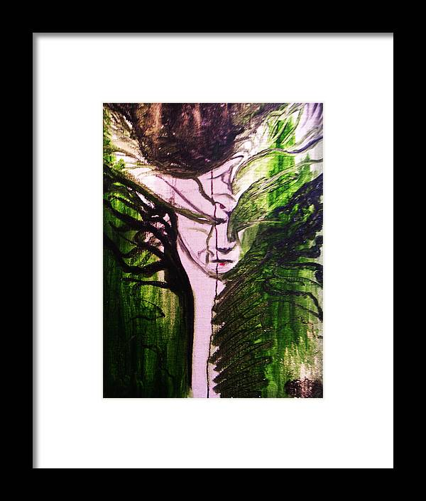 Goddess Framed Print featuring the painting Protecting The Power by Erika Brown