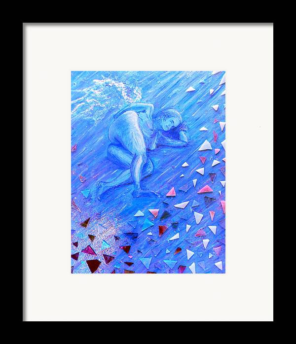 Acrylic Framed Print featuring the painting Protection by Cynthia Ann Swan