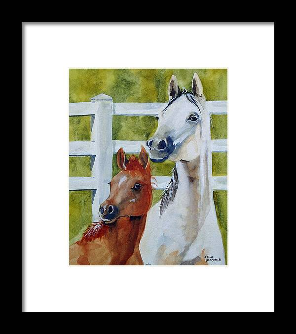 Equine Framed Print featuring the painting Proud Mama by Jean Blackmer