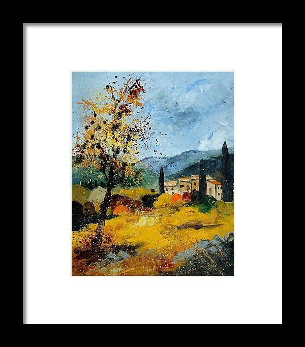Provence Framed Print featuring the painting Provence 45 by Pol Ledent