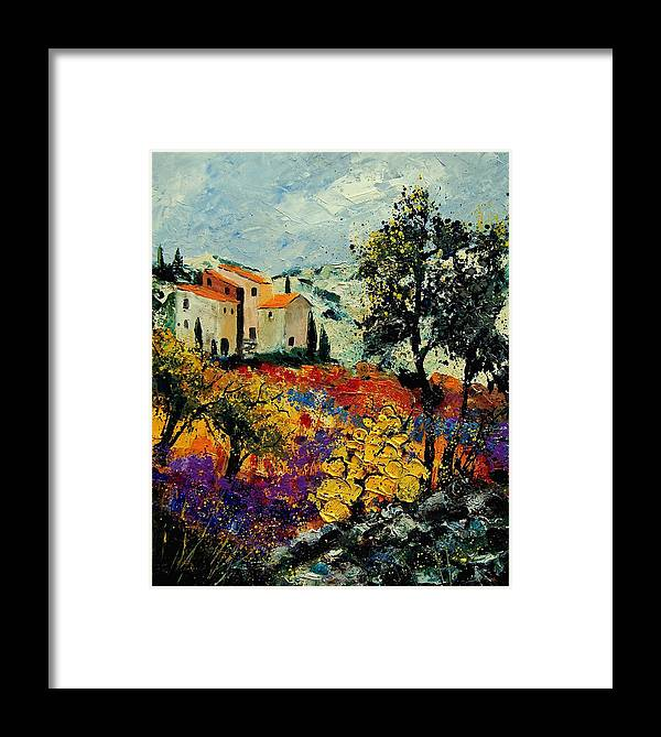 Provence Framed Print featuring the painting Provence 56900192 by Pol Ledent