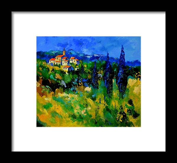 Landscape Framed Print featuring the painting Provence 768110 by Pol Ledent